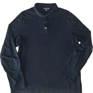Michael Kors Navy Blue Polo Shirt Size XL